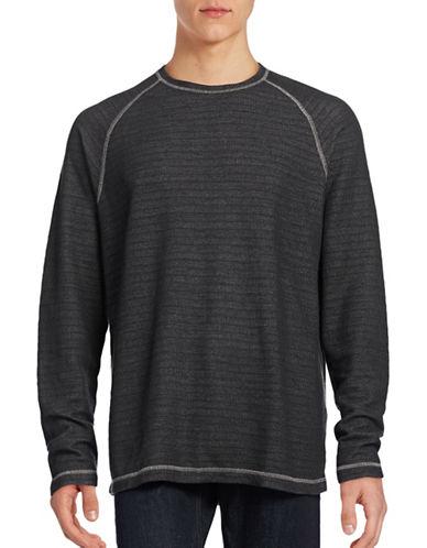Tommy Bahama Corcovado Reversible Raglan Sweatshirt-BLACK-Large 88867361_BLACK_Large