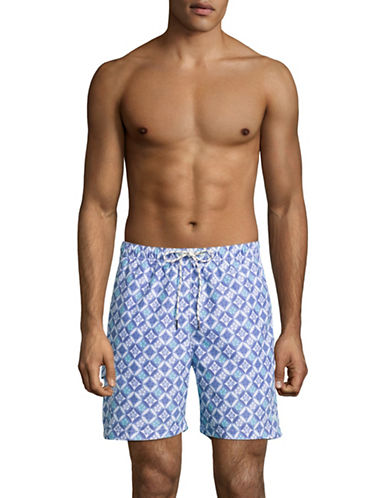 Tommy Bahama Naples Isle Tile Swim Shorts-BLUE-X-Large 89030730_BLUE_X-Large