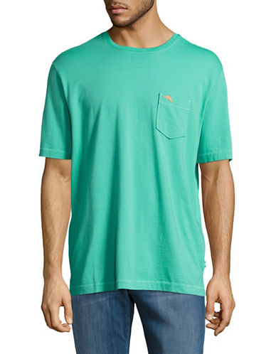Tommy Bahama Pima Cotton Chest Pocket T-Shirt-GREEN-X-Large