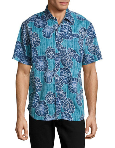 Tommy Bahama Caldera Coast Sport Shirt-BLUE-Small