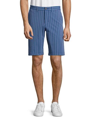 Tommy Bahama Back Swing Striped Shorts-BLUE-34
