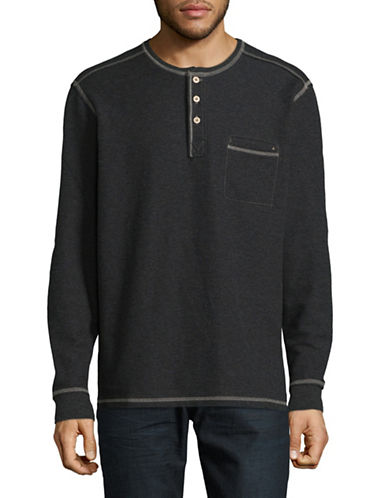 Tommy Bahama Island Thermal Henley T-Shirt-CHARCOAL-Small