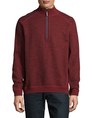 Tommy Bahama Reversible Cotton-Blend Sweatshirt-RED-Small
