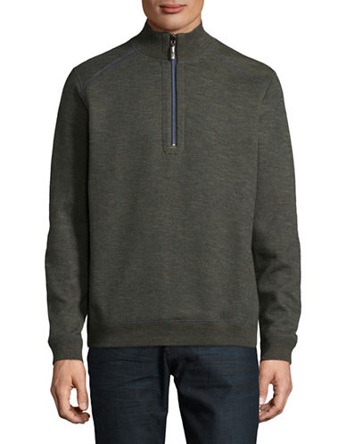 Tommy Bahama Reversible Cotton-Blend Sweatshirt-GREY-Medium