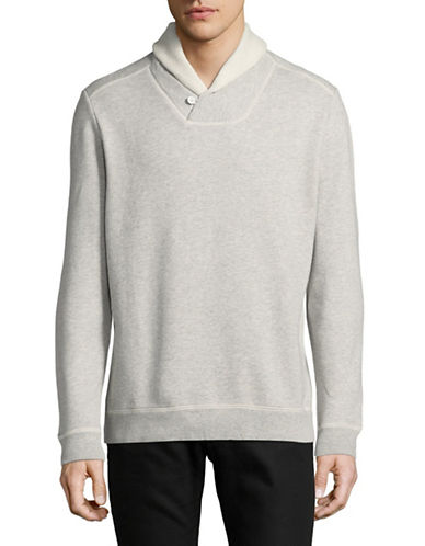 Tommy Bahama Shore Crest Cotton Sweater-GREY HEATHER-Small