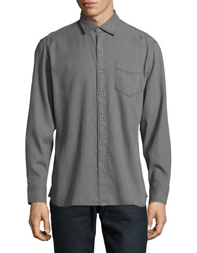 Tommy Bahama Casual Long Sleeve Button Shirt-NATURAL-Large