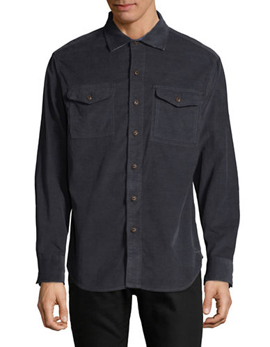 Tommy Bahama Harrison Cord Cotton Sportshirt-BLUE-Small