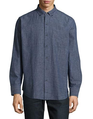 Tommy Bahama Plaid Sport Shirt-BLUE-Small