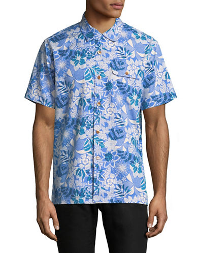 Tommy Bahama Subtropical Palm Sport Shirt-PURPLE-Small