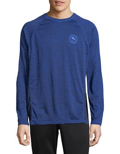 Tommy Bahama Frontside Flip Crew T-Shirt-BLUE-Large