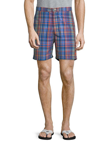 Tommy Bahama Coasta Palm Beach Swim Trunks-BLUE-Medium