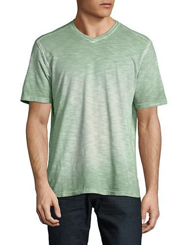 Tommy Bahama Sun Shores V-Neck Cotton Tee-GREEN-Large 90028389_GREEN_Large