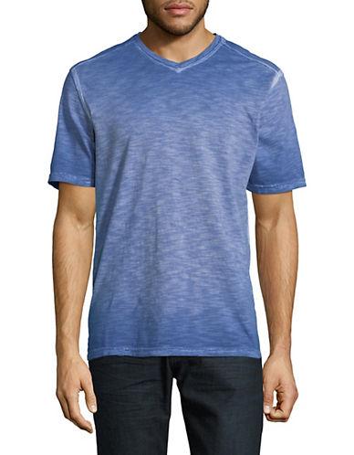 Tommy Bahama Sun Shores V-Neck Cotton Tee-BLUE-X-Large 90028402_BLUE_X-Large