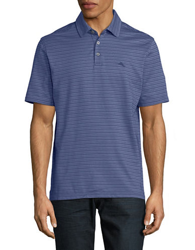 Tommy Bahama New On Par Stripe Polo Shirt-BLUE-X-Large