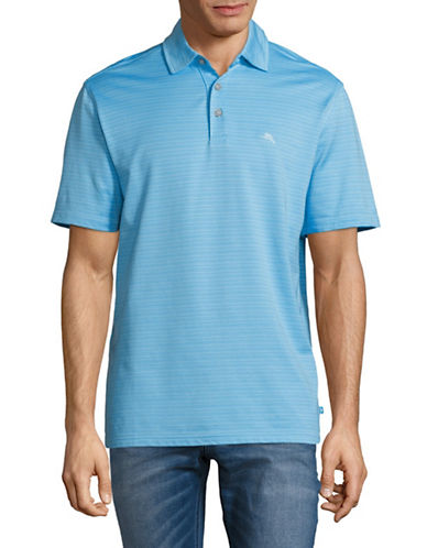 Tommy Bahama New On Par Stripe Polo Shirt-LIGHT BLUE-Small