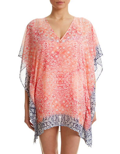 5a40ea55cf ... UPC 023798134917 product image for Tommy Bahama Coral Medallion Tunic  Coverup-CORAL PINK-
