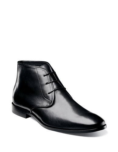 Florsheim Jet Leather Chukka Boots-BLACK-12