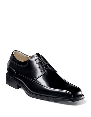 Florsheim Curtis Leather Bike Toe Oxfords-BLACK-7.5