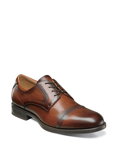 Florsheim Midtown Cap Toe Oxford Shoes-BROWN-8.5