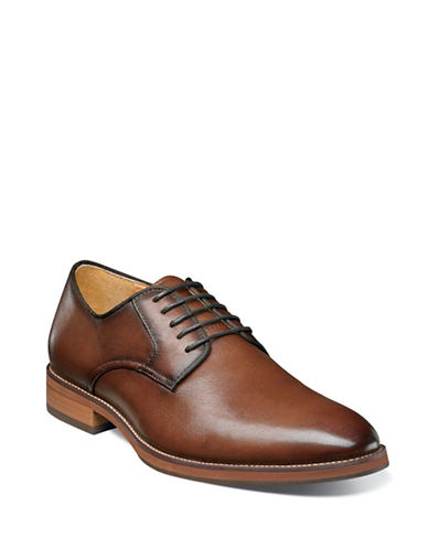 Florsheim Blaze Plain Toe Oxford Shoes-COGNAC-7.5