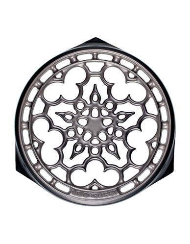 Le Creuset Deluxe Round Cast Iron Trivet-OYSTER-One Size