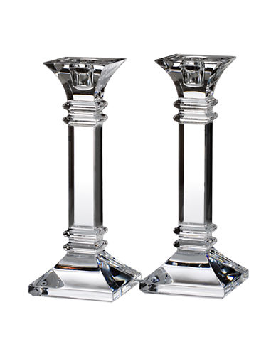 Waterford Wedgwood Marquis Treviso 8 Inch Candlestick Pair-CRYSTAL-Medium