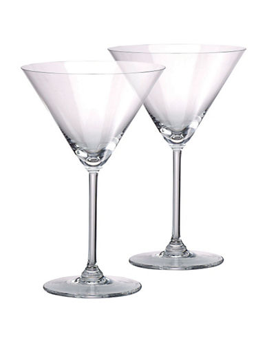 Waterford Wedgwood Marquis By Waterford Vintage Oversized Martini  Pair-CRYSTAL-10 Ounces