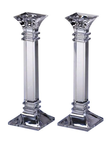Waterford Wedgwood Marquis By Waterford Treviso 10In Candlestick  Pair-CRYSTAL-One Size