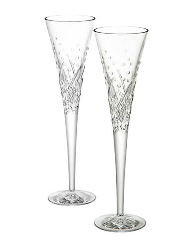 Waterford Wedgwood Waterford Wishes Celebration Toasting Flutes-CLEAR-One Size
