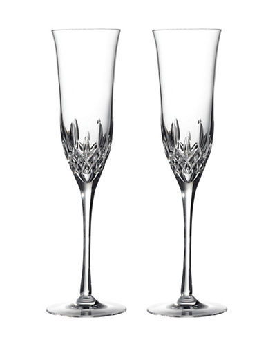 Waterford Wedgwood Waterford Lismore Essence Flute  Set Of 2-CLEAR-One Size