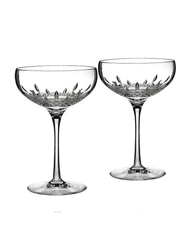 Waterford Wedgwood Waterford Lismore Essence Saucer Champagne  Set Of 2-CLEAR-One Size