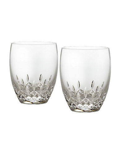 Waterford Wedgwood Waterford Lismore Essence Double Old Fashioned  Set Of 2-CLEAR-One Size