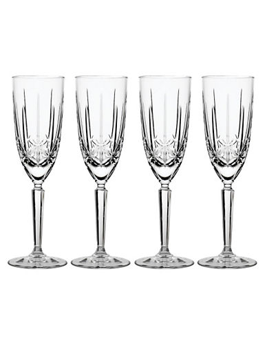 Waterford Wedgwood Marquis By Waterford Sparkle Flute Set Of 4-CLEAR-One Size