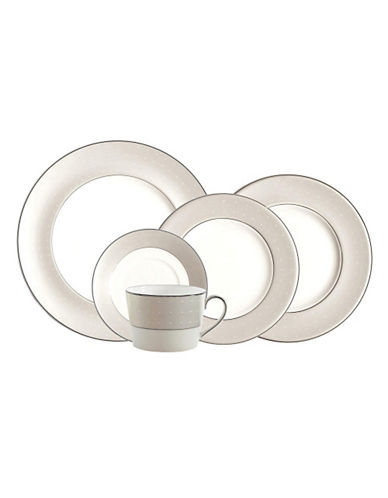 Monique Lhuillier Etoile Platinum 5 Piece Place Setting-WHITE-One Size
