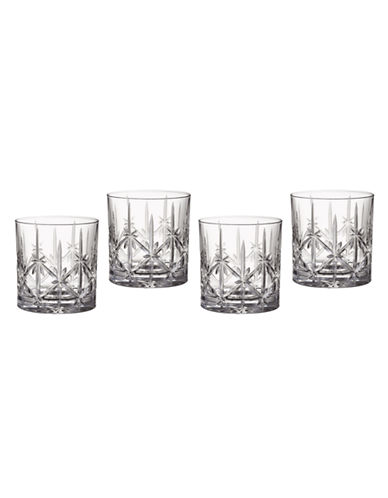 Waterford Wedgwood Marquis by Waterford Sparkle Double Old fashioned  set of 4-CRYSTALLINE-One Size