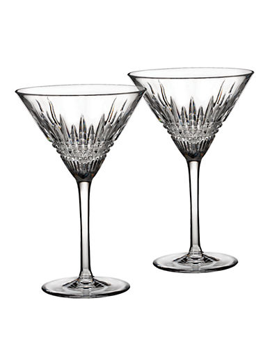 Waterford Wedgwood Lismore Diamond Martini Pair-CRYSTAL-One Size