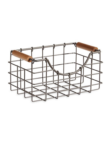 Glucksteinhome French Market Small Nesting Basket-GREY-One Size