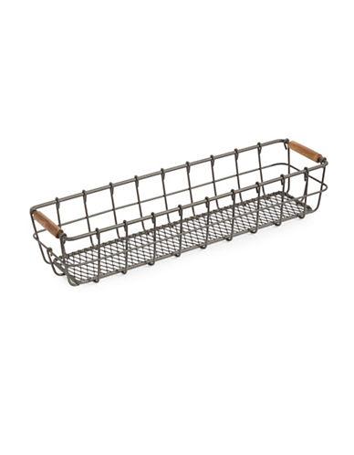 Glucksteinhome Small French Market Basket-GREY-One Size