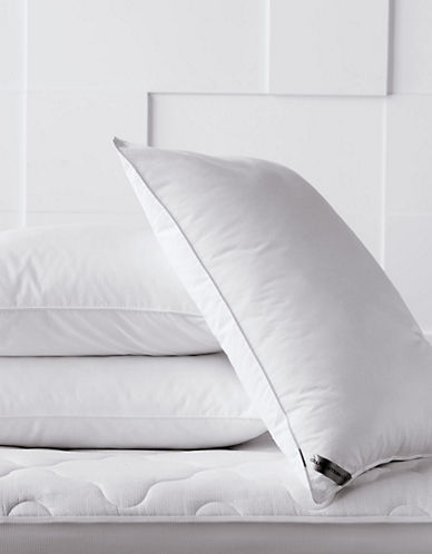 Glucksteinhome Premimum Cluster Fill Firm Support Pillow-WHITE-Queen