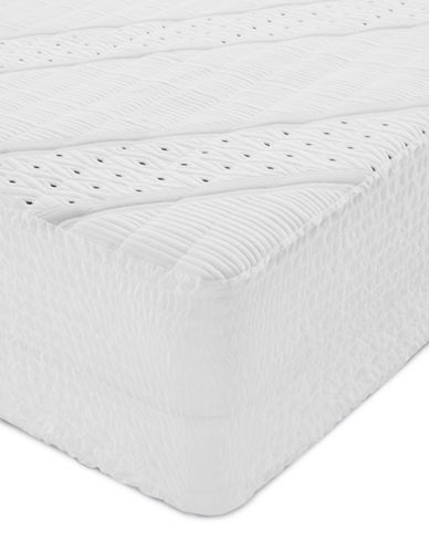 Beautyrest Black Total Protection Mattress Pad-WHITE-Double