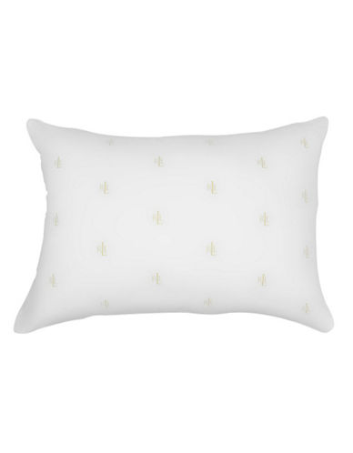 Lauren Ralph Lauren Logo Monogram Pillow-WHITE-One Size