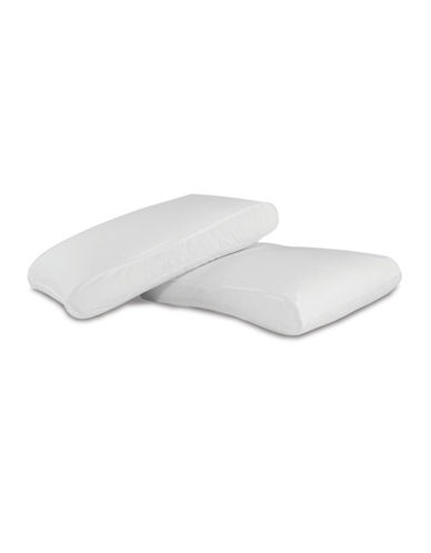 Live Comfortably Super Soft Infinity Medium Support Jumbo Pillow-WHITE-Standard