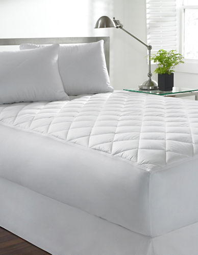 Live Comfortably Performance Memorelle Mattress Pad-WHITE-Double