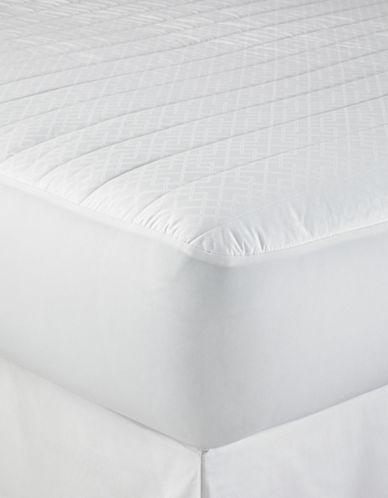 Lauren Ralph Lauren Trellis Quilted Mattress Pad-WHITE-Double 88976007_WHITE_Double