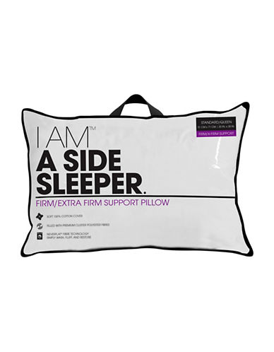 I Am A SIDE SLEEPER. Firm Extra Firm Support Pillow-WHITE-Queen