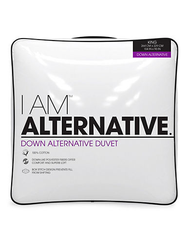 I Am Down Alternative Duvet-WHITE-King