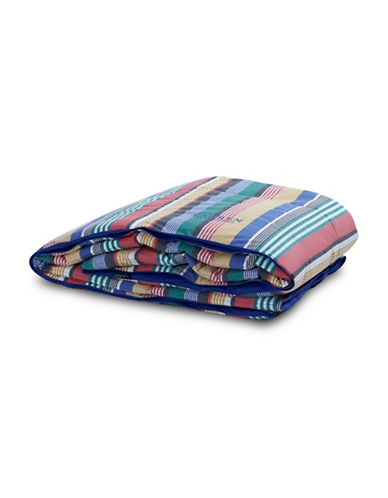 Lauren Ralph Lauren Cameron Stripe Reversible Down Alternative 200 Thread Count Cotton Duvet-MULTI-King