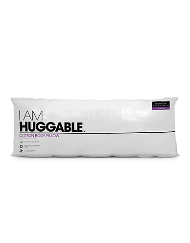 I Am HUGGABLE Body Pillow-WHITE-One Size