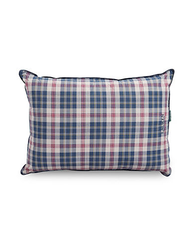 Lauren Ralph Lauren Randolph Plaid Reversible 200 Thread Count Yarn Dye Pillow-BLUE-Queen