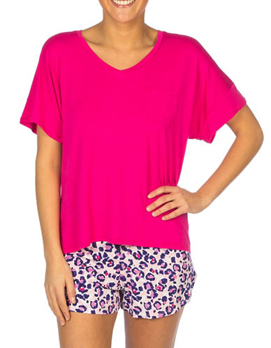Roudelain High-Low Hem Oversized Tee-PINK-Medium 88176755_PINK_Medium
